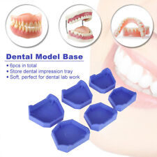 6pcs Dental Lab Plaster Model Base Former Molds Tray Dentist Oral Care Tool