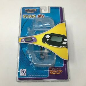 Nintendo Game Boy Advance GBA Rubber Case Shell Bumper Black Violet Clear - New