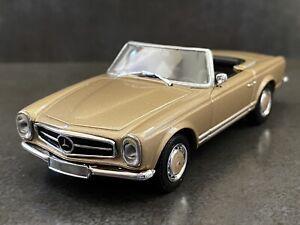 1:43 MINICHAMPS MERCEDES BENZ 230SL - 280SL 1963 GOLD LHD MODEL CAR *RARE*