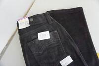 MAC Melanie Damen Jeans stretch cord Hose 34/32 W34 L32 tiefschwarz NEU