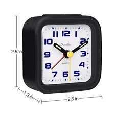 DreamSky Non-Ticking Quartz Analogy Alarm Clock With Backlight Battery Operated