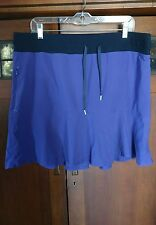 Glam preowned Title Nine stretch sport SKIRT built in Shorts sz XL purple black