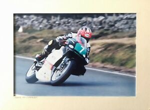 Denis McCullough Motorbike Photograph North West 200 Isle of Man TT Joey Dunlop