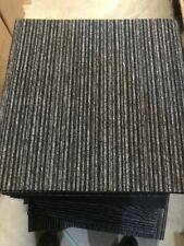 More details for quality carpet tiles 5m2 box heavy duty hard wearing retail flooring grey stripe