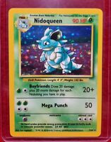 1999 Pokemon NIDOQUEEN Jungle Set - NO Symbol ERROR - Holo Card 7/64 NM LOOK!!