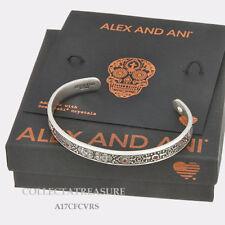 Authentic Alex and Ani Calavera Cuff Rafaelian Silver Bangle CUFF