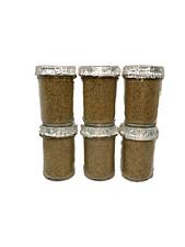 6 (Six) Ultimate Half Pint Mushroom Substrate Jars,  Grow Mushrooms Fast!!