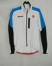 Castelli Mens Trasparente Due Long Sleeve White Cycling Wind Jersey Size L New