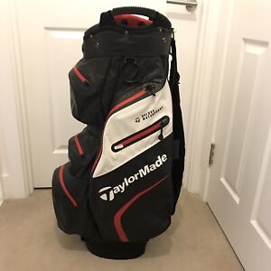 Taylormade Deluxe Water Proof Cart Bag. Excell Condition. Includes Hood.