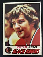1977-78 Topps # 251 HAWKS BOBBY ORR  EX+/NRMT  CARD