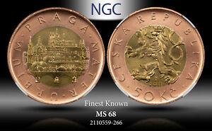 2011 CZECH REPUBLIC 50 KORUN NGC MS 68 FINEST KNOWN #A