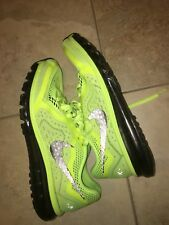 Nike Air Max Running Shoes Size 12 Neon Green Black Sneakers Mens Workout Gym