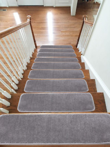 New Carpet Stair Treads NON-SLIP MACHINE WASHABLE Mats/Rugs, 22x67cm, 13pc -15pc