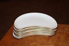 (6) Vintage MINTON Crescent / Salad Plates - Gold Edge /