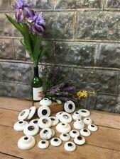 Porcelain Faucet Covers, Vintage Plumbing Parts, Escutcheon Valve Rings C,