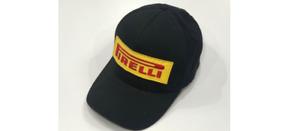 PIRELLI Tires Baseball Ball Trucker Racing Cap Hat Black Adjustable Hook & Loop
