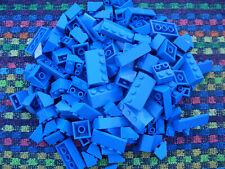 150 Lego Basic Dachsteine / Dachziegel  blau City Haus Schrägsteine 45° L003