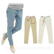 Straight Leg Cotton Trousers for Women's Regular Size Chinos