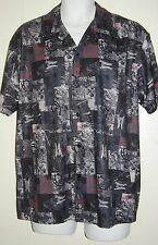 GUESS Jeans Samurai / Dragon Casual Short Sleeve Camp Shirt Size Large L