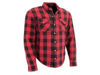 Motorrad Shirt LUMBERJACK Holzfällerhemd LUMBER JACK Rot schwarz 5XL 6XL 7XL