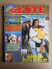 GENTE n°22 1985 Carolina di Monaco Parto gemelli Maria Josè di Savoia  [D49]