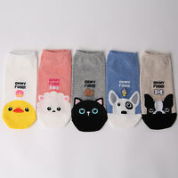 ANIMAL & FOOD CARTOON SOCKS 5 pairs=1 pack women girl cute MADE IN KOREA socks