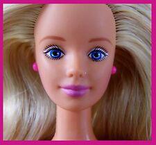 Nude Barbie Mackie HM TNT Body Blue Eyes Blond Highlighted Hair & Earrings CLEAN