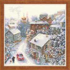 "Half Cross Stitch (Needlpoint) Kit RIOLIS - ""Snowy winter"""