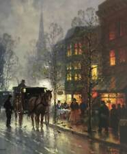 G. Harvey Tea Time On Newbury Street Signed & Numbered Limited Edition With Cert