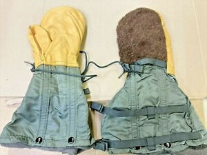 used US GI Arctic Military Mittens Air Force COLD WEATHER Flyers Gloves LARGE