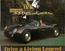 BECK VINTAGE 550 SPYDER 1983 BROCHURE, PRICE LIST & 4 PHOTOS * VERY RARE ITEM *