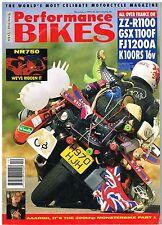 Perfomance Bikes Dec 1991 Honda NR750 ZZR-1100 GSX1100F FJ1200 K100RS NSR180