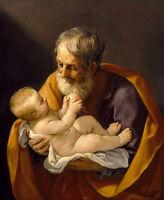 Beautiful Oil painting Salome Guido Reni - St. Joseph and baby Jesus on canvas