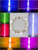 1 pc 10 led Wire Wedding Underwater Fairy Light Eiffel Tower Vase Decor Floral