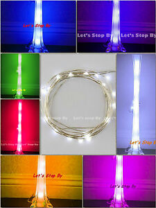 1 pc 10 led Wire Wedding Underwater Fairy Light Eiffel Tower Vase Decor Floral