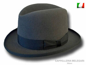 High quality fur felt Homburg hat hand made in Italy