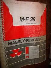 Massey Ferguson MF38 : catalogue de pièces 1991