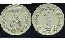 ALGERIE ALGERIA  1 dinar 1972