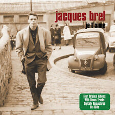"JACQUES BREL  3-CD BOX SET  ""JE T'AIME"" features 4 Complete Albums on 3 CD's NEW"