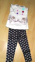 New Monsoon Baby Girl Cream Navy Blue Elephant Top Leggings Set £22 Half Price!
