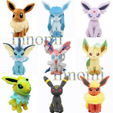"""Full 9 Set 8"""" Pokemon Flareon Glaceon Umbreon Sylveon Plush Toy Stuffed Doll"""