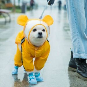 Pet Cat Dog Raincoat Hooded Reflective Puppy Small Dog Rain Coat Waterproof