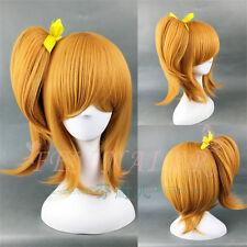 LoveLive! Kousaka Honoka Straight Orange Ponytail Synthetic Cosplay lady's Wig