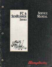 1990 SIMPLICITY RIDING MOWER FC & SUNRUNNER SERIES SERVICE MANUAL 1706370 (498)
