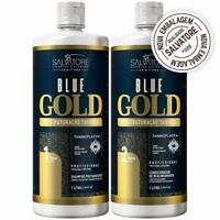 New Edition Blue Gold Tanino Restructuring Kit 2x 1 litro 33.8 Floz Salvatore 3
