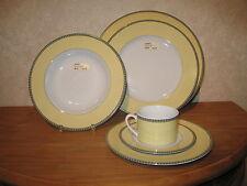 KAHLA *NEW* COCKTAIL JAUNE Set 4 assiettes + 1 Tasse avec soucoupe