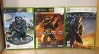 Halo Trilogy Lot! For Original Xbox & Xbox 360! Manuals! Bungie! Combat Evolved