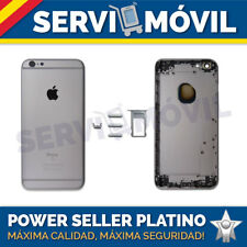 Chasis Carcasa Trasera Para Apple Iphone 6S PLUS 5.5 Gris Espacial Tapa Marco