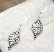 Cactus Leaf Southwest Design Earrings .925 Sterling Silver pewter charms 1.50""