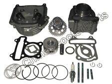 51MM 110CC Big Bore Performance Cylinder Head Camshaft Piston Kit GY6 Engine